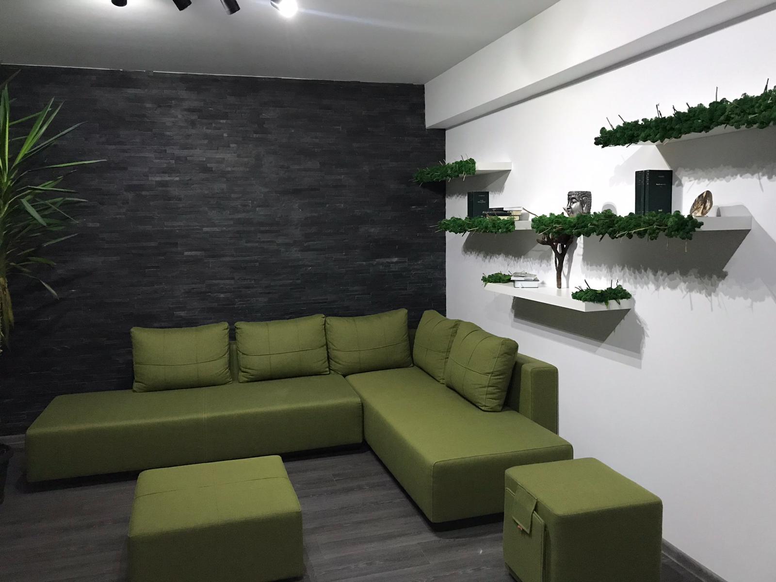 Camera decorata cu licheni
