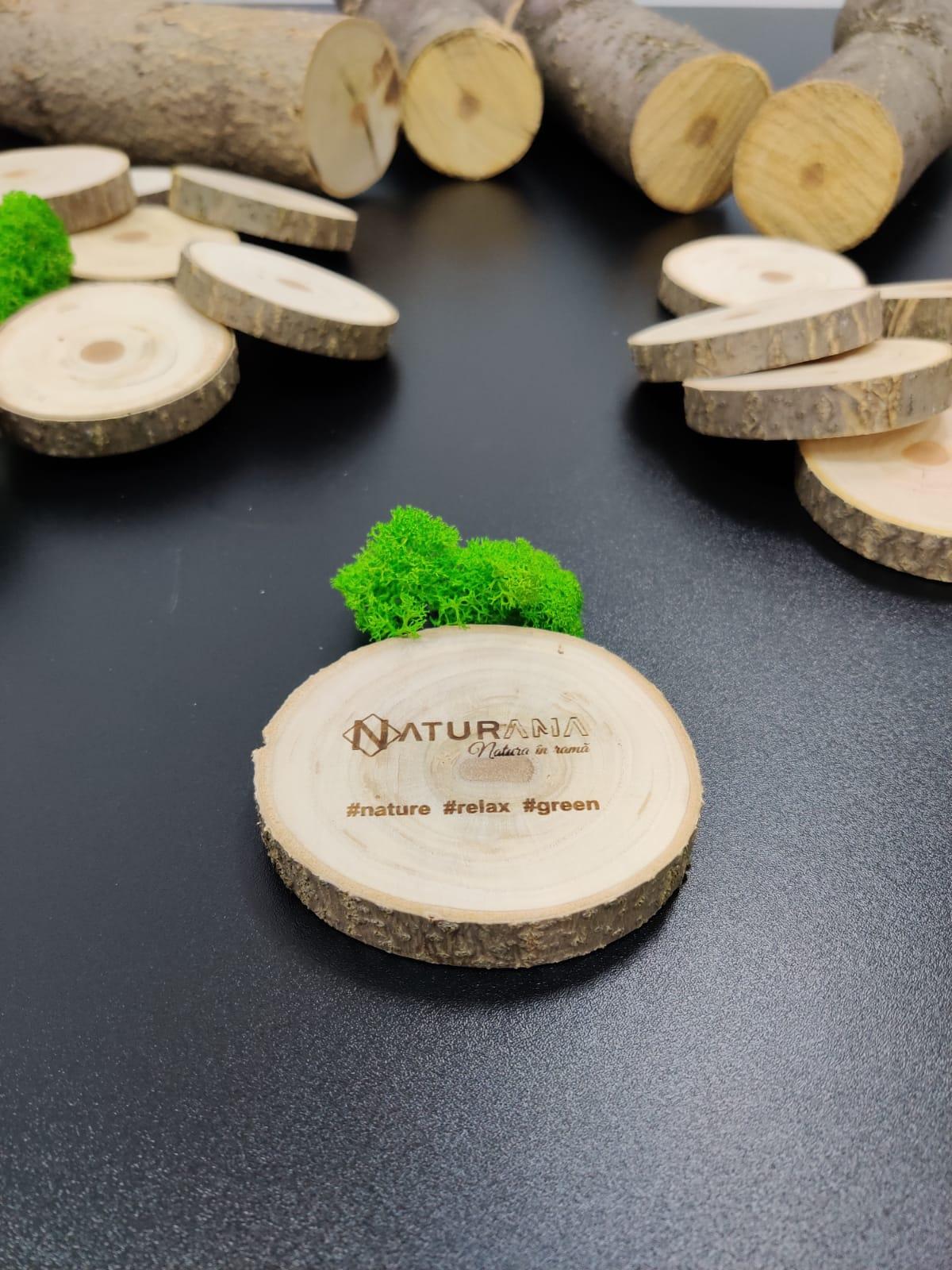 Suport pahare lemn gravat