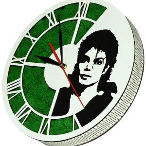 Tablou ceas cu licheni Michael Jackson