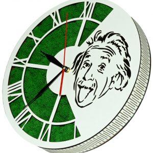 Tablou ceas cu licheni Albert Einstein