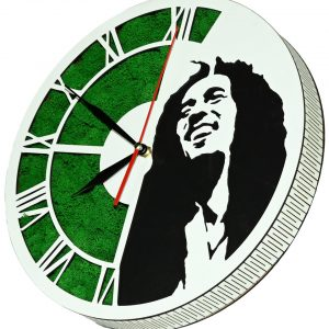 Tablou ceas cu licheni Bob Marley