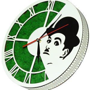 Tablou ceas cu licheni Charlie Chaplin