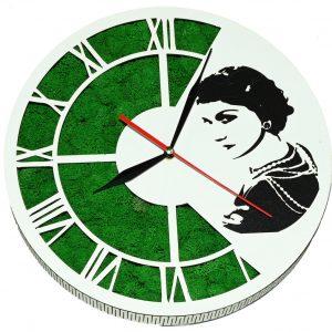 Tablou ceas cu licheni Coco Chanel
