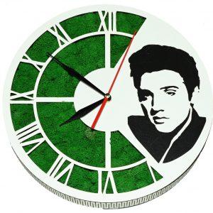 Tablou ceas cu licheni Elvis Presley