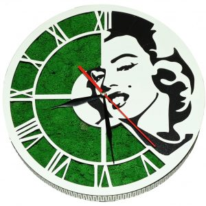 Tablou ceas cu licheni Marilyn Monroe
